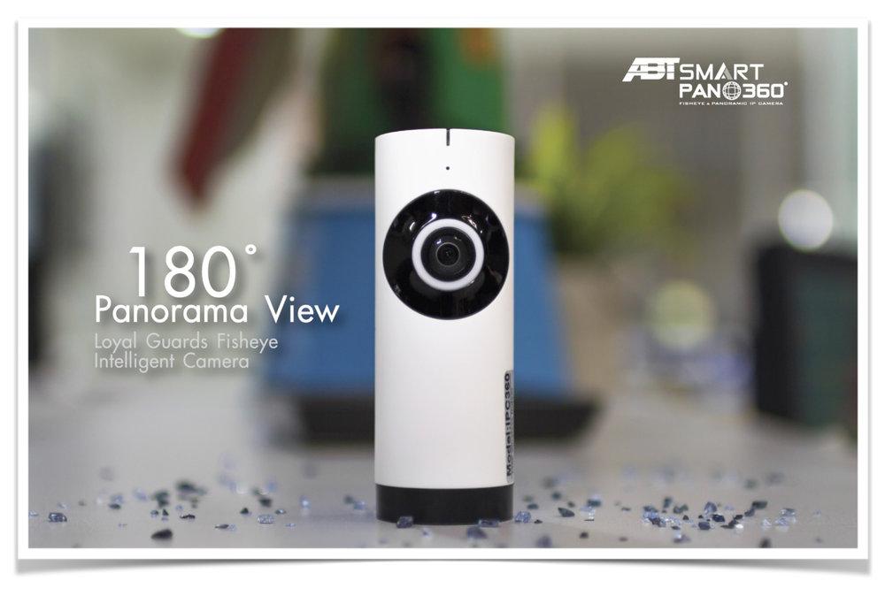 abt smart pano360, fisheye, panorama กล้องพาโนรามา360องศา ตรวจจับความเคลื่อนไหว motion sensor, 180 panorama view, round camera, fisheye camera, กล้องกันขโมย, กล้องwifi