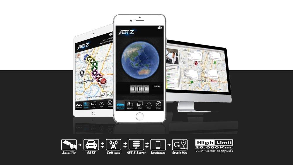 GPSแจกฟรี ใช้งานบนสมาร์ทโฟน แอพพลิเคชั่นภาษาไทย สัญญาณกันขโมยรถยนต์ ABT ABG