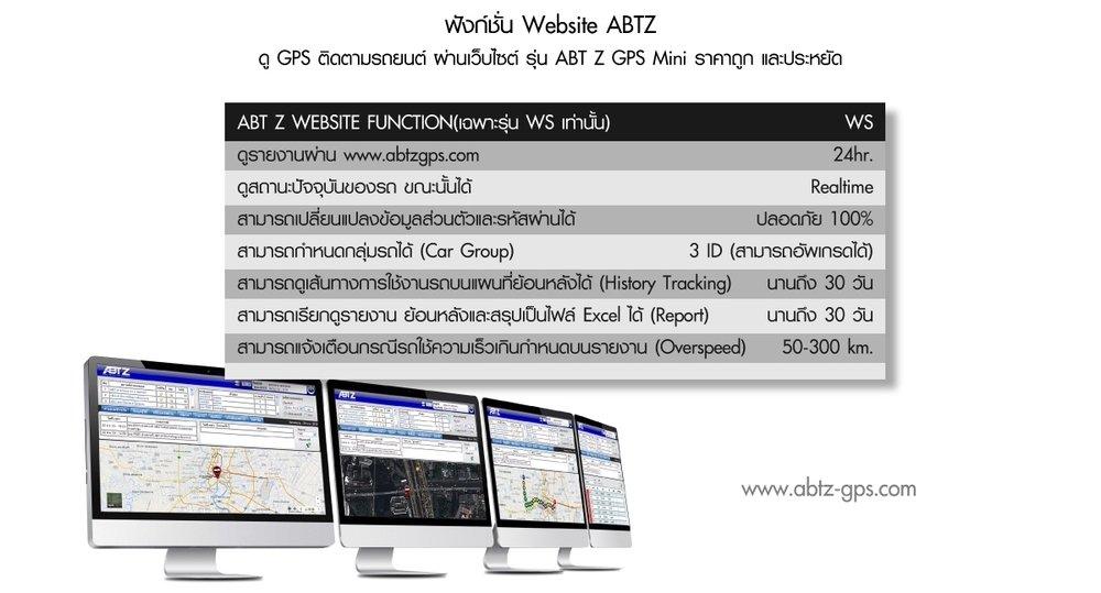 ดู GPS ติดตามรถยนต์ ผ่านเว็บไซต์ รุ่น ABT Z MINI ราคาถูก ตำแหน่งแม่นยำ