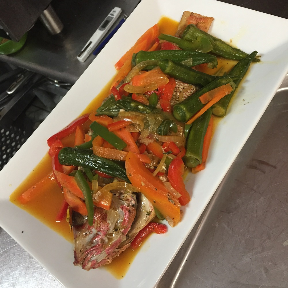 Steamed Red Snapper w: vegetables.JPG