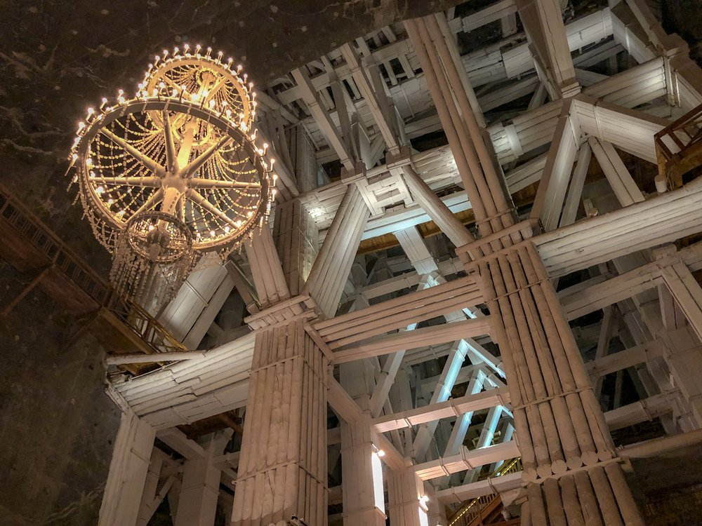 Salt Chandelier, Grand Chamber, Salt Mine