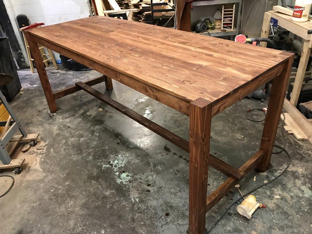 Bar Height Farm Style Table