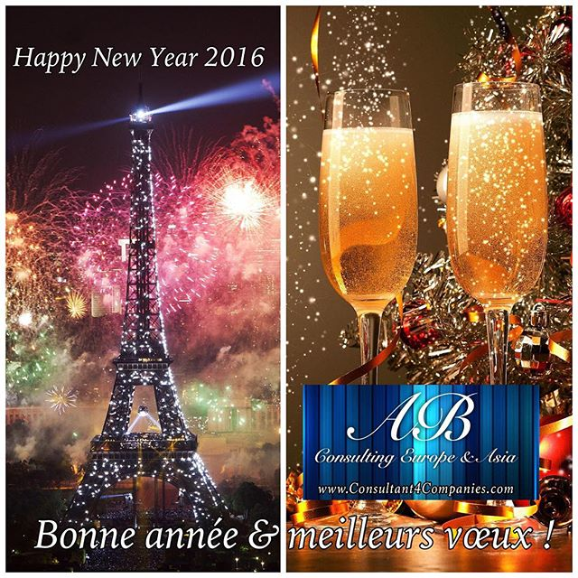 Our best wishes for a happy new year in 2016!  Nos meilleurs voeux pour une bonne année en 2016!  www.Consultant4Companies.com  #HappyNewYear #BonneAnnee #MeilleursVoeux #NewYear2016 #sme #Paris #Paris2016 #Champagne #Entrepreneurs #CompanyEngagement #Sales #Website #Advertising #SocialMedia #Networking #Accounting #BusinessAdministrative #Marketing #happyholidays #joyeusesfetes #vacances #holiday #vacation #noel #ABConsulting #ABConsultant #ABConsultingParis #sme #salesmarketing #fêtes #media