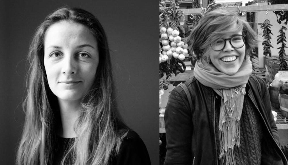 Malou Astrup Clemmensen, forkvinde (til venstre) og Marie Thomsen, næstforkvinde for Studenterådet