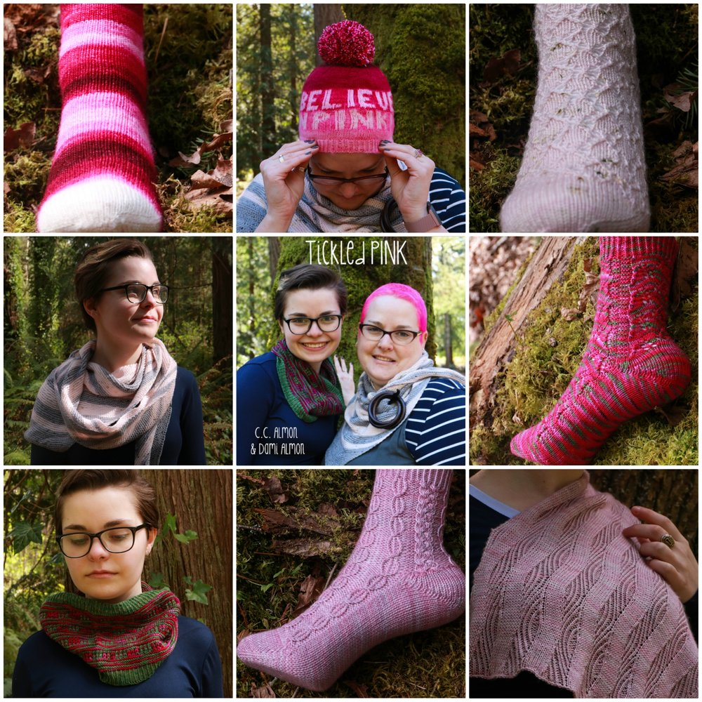 Tickled PINK ~ 2 designers, 4 indie dyers, 8 PINK-tastic patterns - Amazon US - Tickled PINK ~ 2 designers, 4 indie dyers, 8 PINK-tastic patternsAmazon UK - Tickled PINK ~ 2 designers, 4 indie dyers, 8 PINK-tastic patterns