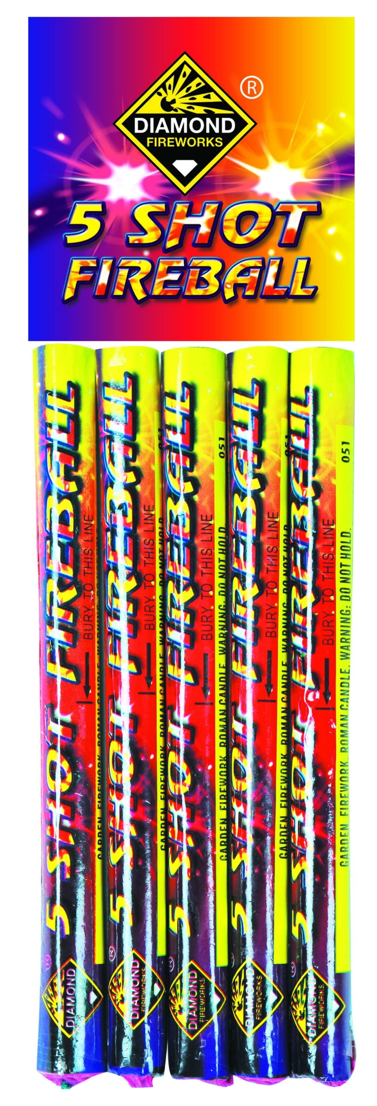 5 Shot Fireball 5pk - RRP £3.50