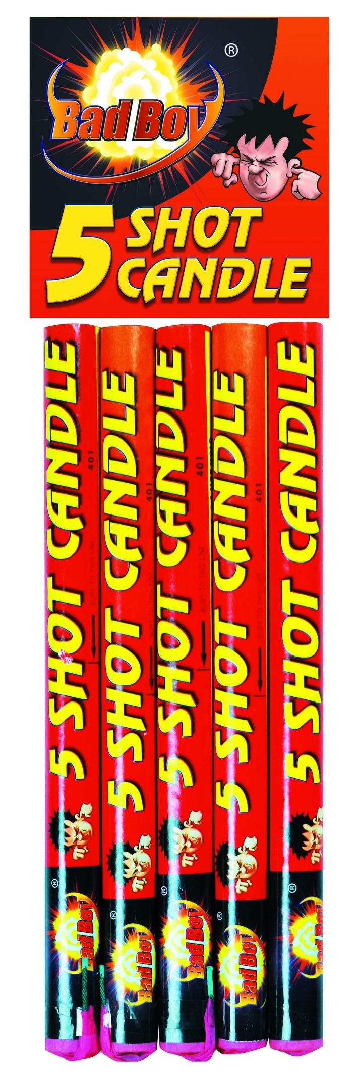 5 Shot Candle 5pk - RRP £5.99