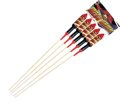 Mega Hawk Rockets 5pk - RRP £44.99