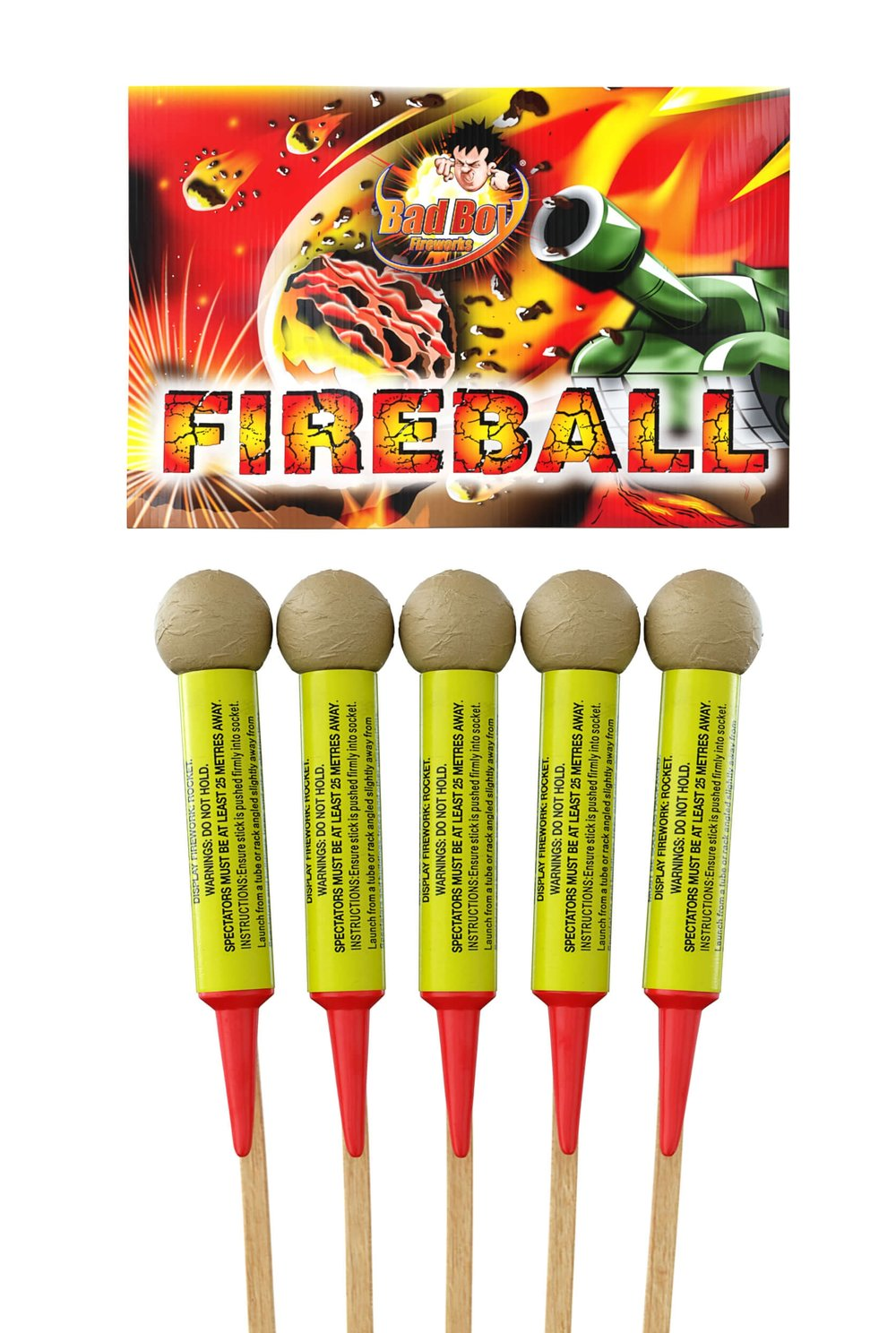 Fireball Rockets 5 Pack 1.3G - RRP £39.99