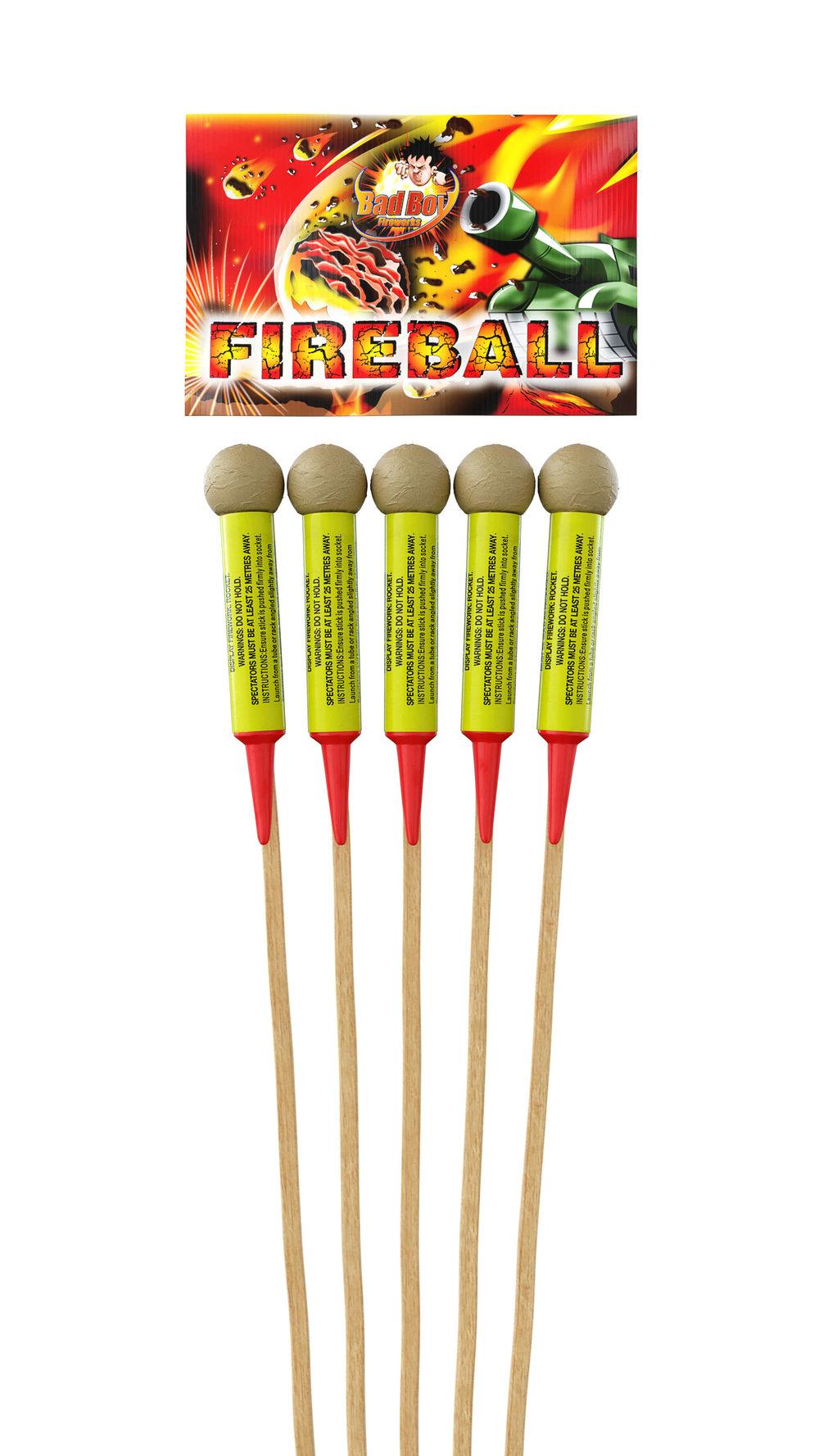 Fireball Rockets 5Pk - RRP £39.99