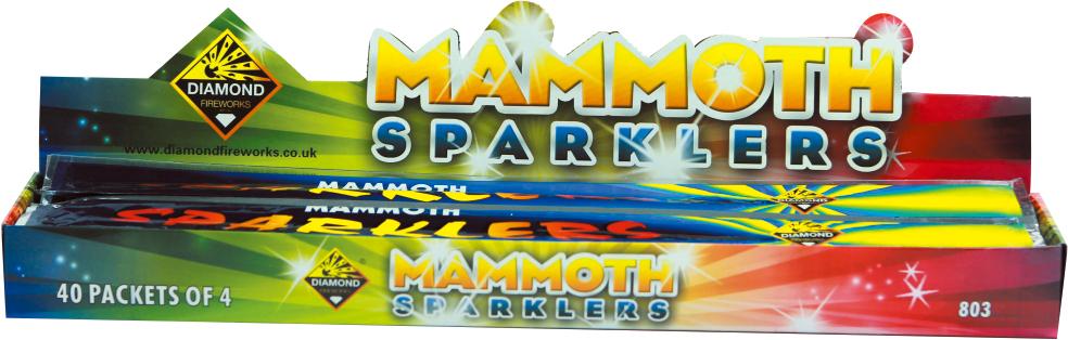 MAMMOTH SPARKLERS 4PK - RRP £1.85
