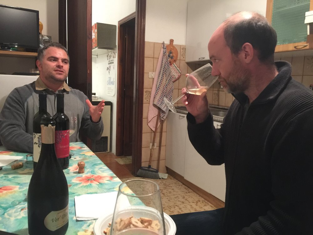 Tasting with Fabrizio from Azienda Agricola Quaresima