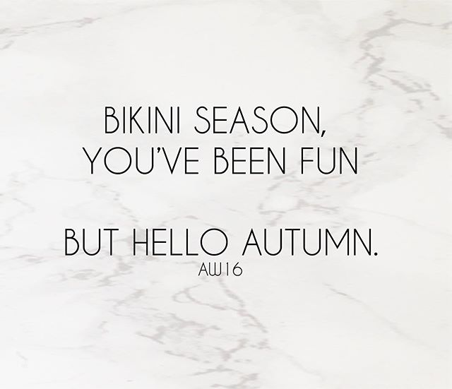 We'll be saying goodbye to bikinis very soon until next spring - we shall however be welcoming with open arms our Autumn Winter collection featuring some really beautiful pieces so keep up to date everyone!  BIKINIS ITS BEEN FUN.