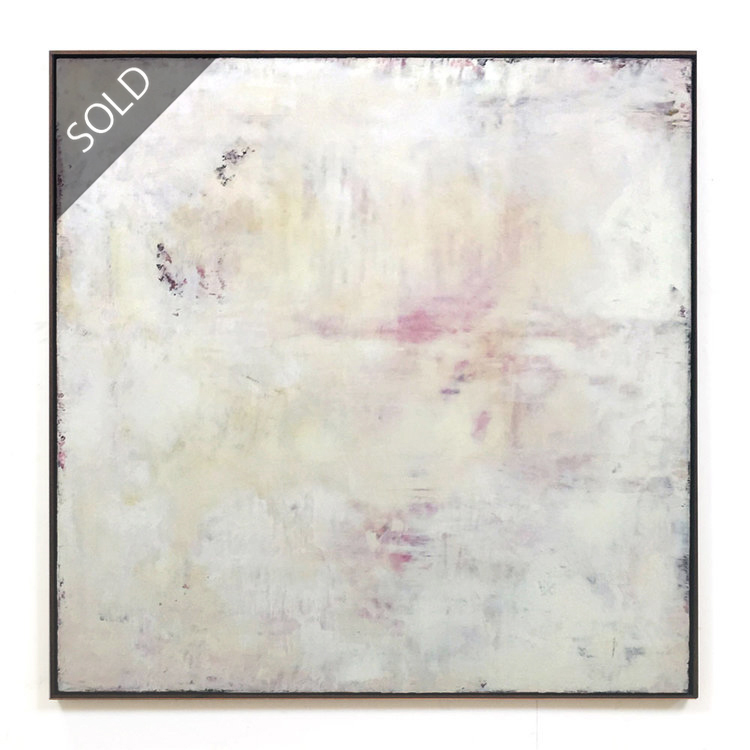 martin lechner carré #00610116 - oil on canvas on panel 120 x 120 x 5 cm (sold)