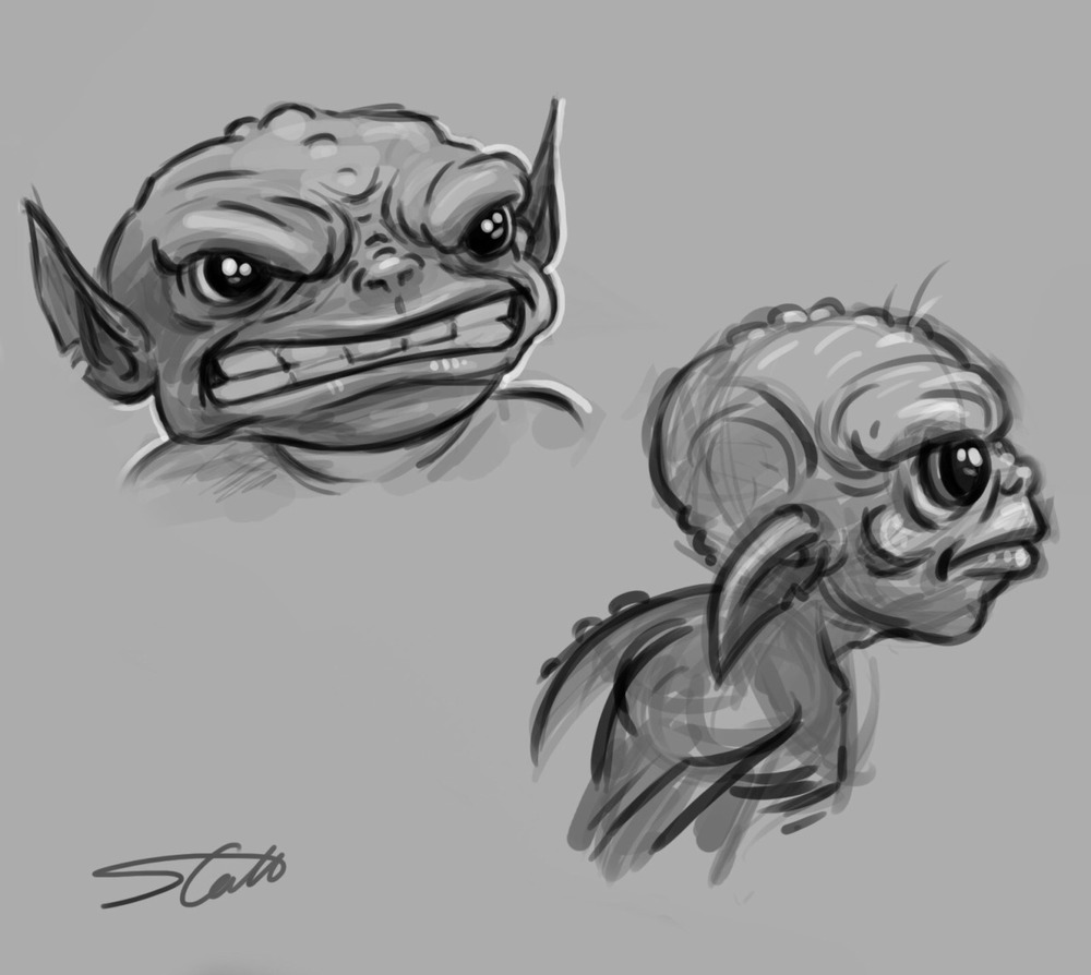 Original concepts for Greeb. A character that will be featuring in our next short over at @brokenbricksproductions