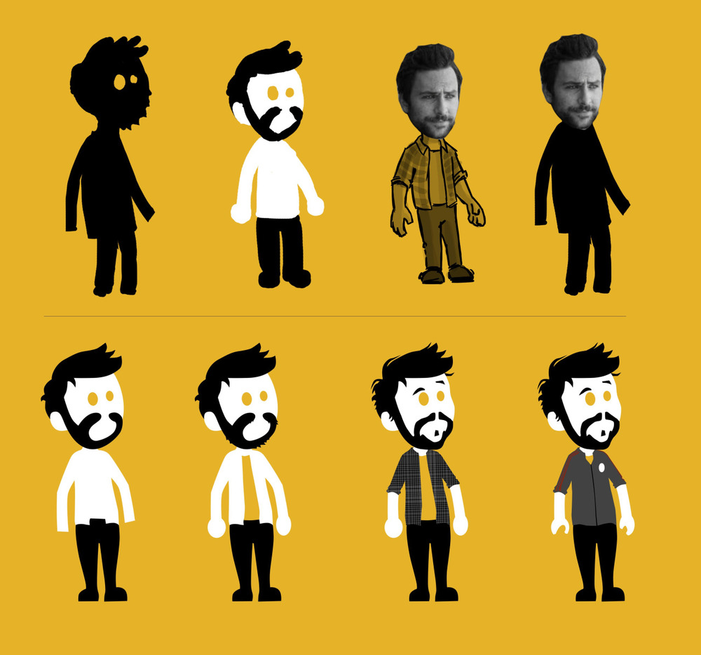 Charlie Day design for our fan inspired animation