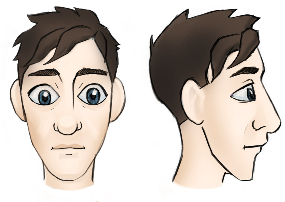 So i'm in the process of making a complete cartoon CGI version of myself. Check out the profiles of my cartoon head.