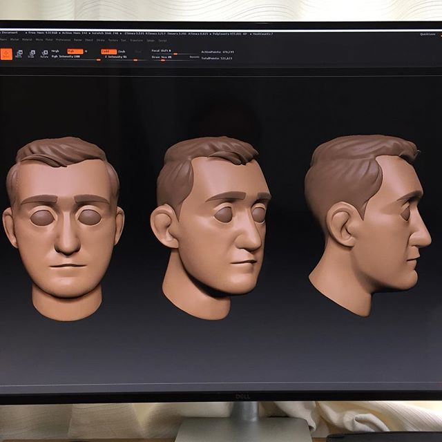 Avatar head sculpt almost done. Moving onto the body next. #zbrush #characterdesign #characterstudy #avatarcreation #avatar #3danimation #3dmodeling #pixologiczbrush #ztool #3dcharacter #characterturnaround