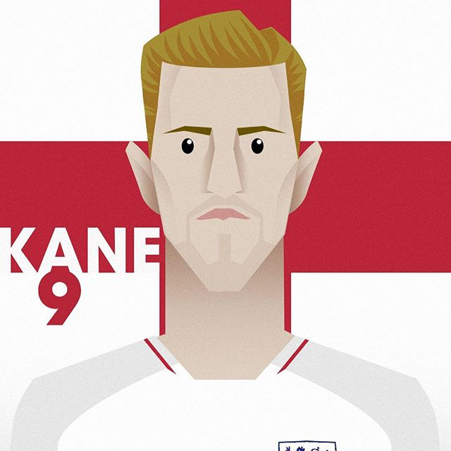 Hopefully England 🏴󠁧󠁢󠁥󠁮󠁧󠁿 do well against Panama 🇵🇦 today. Here's a quick illustration of our captain Kane.