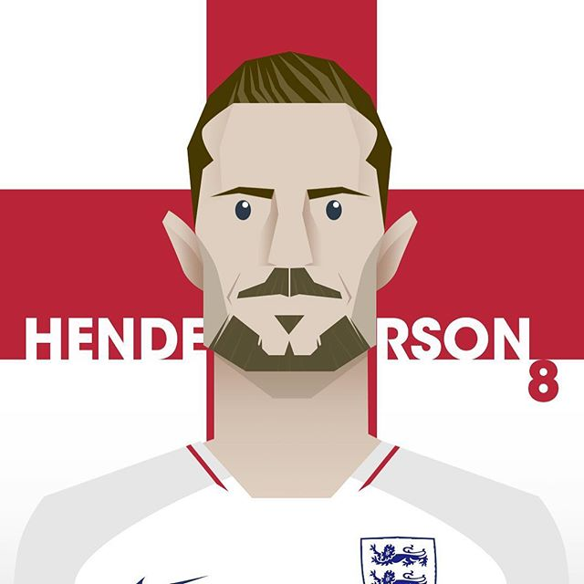 Looking forward to the #ENGVSBEL game tonight. Hoping Hendo plays and has a great game. I'll be watching with a pint in hand. 🏴󠁧󠁢󠁥󠁮󠁧󠁿 #worldcup #worldcup2018 #worldcuprussia #worldcupdesign #englandvsbelgium #englandfanart #worldcupillustration #illustration #characterdesign #jordanhenderson #hendo #photoshop #illustrator #aftereffects