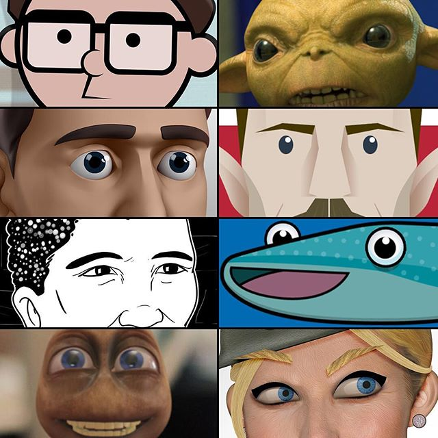 Joining in the #eyememe  Here's a collection of characters I've designed. There's some variety from sketched to 3d renders.  #illustration #illustrator #photoshop #3dsmax #maya #c4d #characterdesign #characteranimation #characterart #design #zbrush #zbrushsculpt #compositing #vfx #alien #goblin #worldcup2018