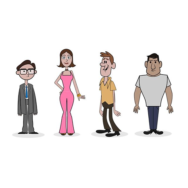 Some characters I made. Again following a similar style to the Hanna Barbera cartoons.  #illustrate #illustration #drawing #draw #drawings #drawingoftheday #artjournal #creativeprocess #sketchbook #sketch #doodle #vector #graphicdesign #digitalart #digitalpainting #adobeillustrator #photoshop #illustrator #vectorart #digitalillustration #artistsoninstagram #instaartist #illustrationoftheday #creatives #doodles  #art #graphicdesign #design #hannabarbera #barbera