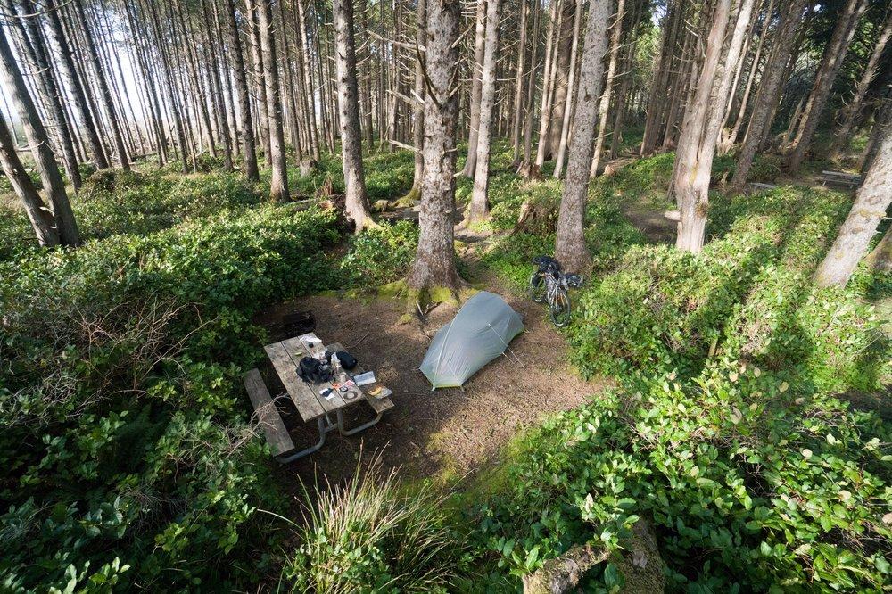 Hiker/Biker camping: Cape lookout