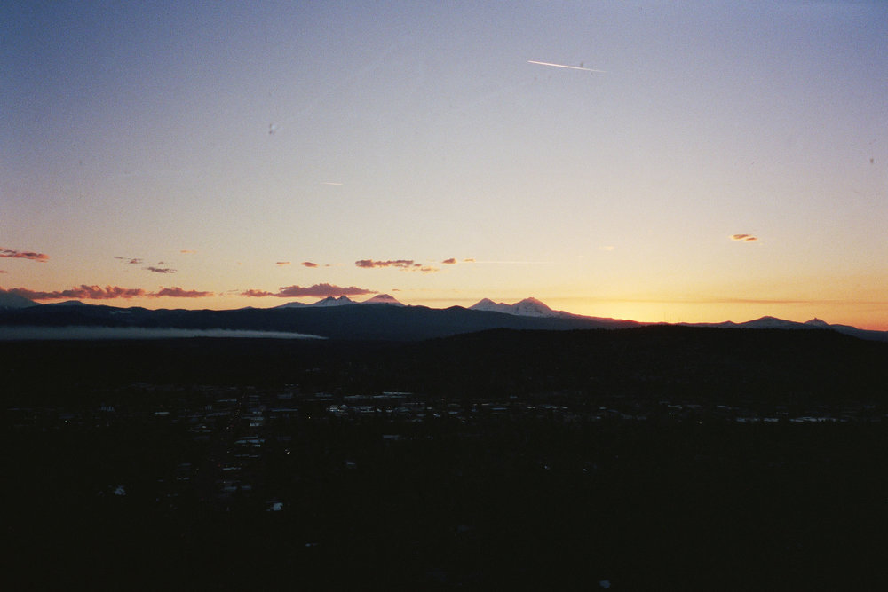 Sunset over the Cascades from Bend