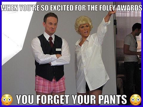 We are excited too...but pants are required at the event! Get your tickets here to reserve a seat at the Foley Awards hosted by Tim Evanicki and Stephen Guarino! #foleyawards #newyear #footlighttheatre #stephenguarino #parliamenthouse #2017 #awardseason https://phouse.ticketleap.com/foleyawards/
