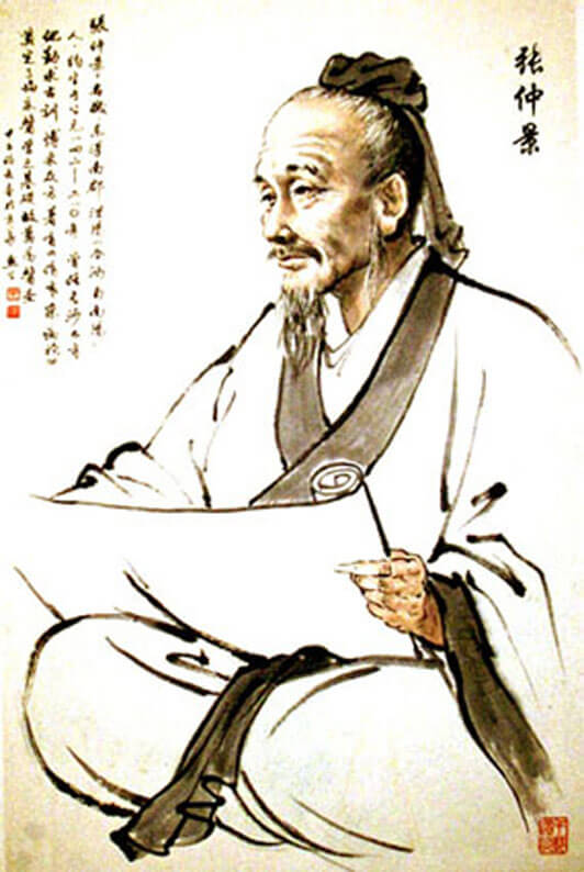 Zhang Zhongjing, a early physician who lived during the Eastern Han Dynasty between 40 to 200 AD.  He is responsible for writing the Shan Han Lun, which is a text for diagnosing disease and treating with herbal formulas.    www.pacificcollege.edu/news/blog/2015/04/29/treating-fever-using-classical-thinking-shang-han-lun