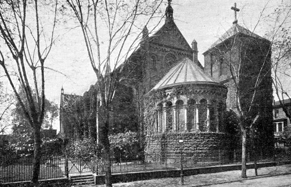 The East End of the Church after removal of the spire, prior to the enlargemnet of the apse.