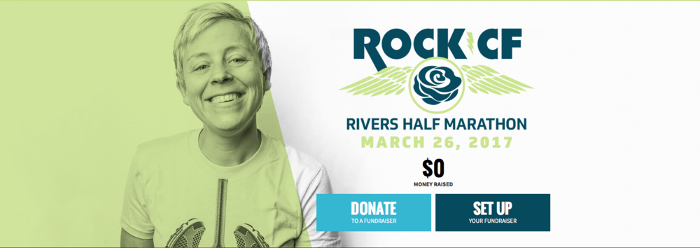 Go the extra mile and become a fundraising runner for Rock CF!