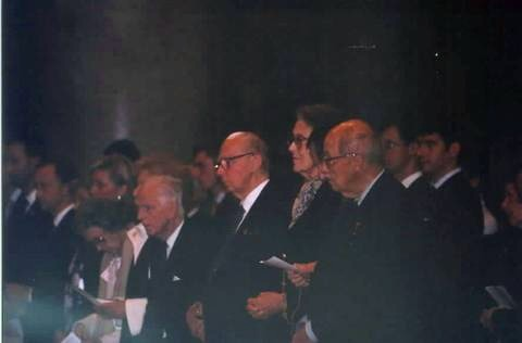Three of Emperor Karl's living children attended the evening events.