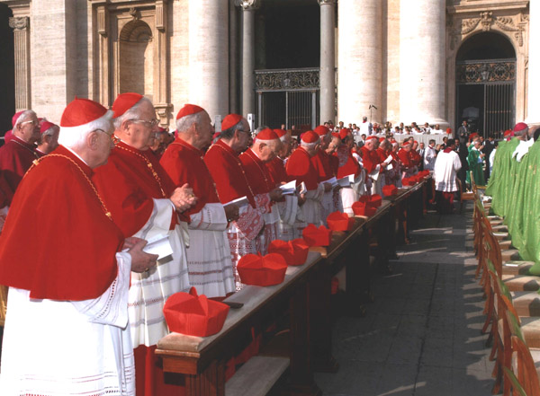 The Beatification was attended by many cardinals, including Cardinal Ratzinger, now Pope Benedict XVI (left).