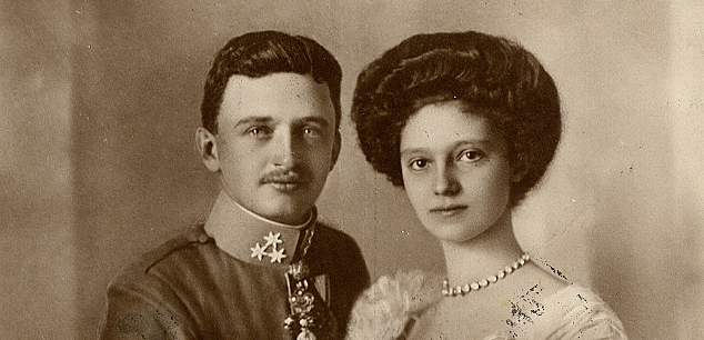 Wedding Portrait of Emperor Karl and Empress Zita, July 12, 1911