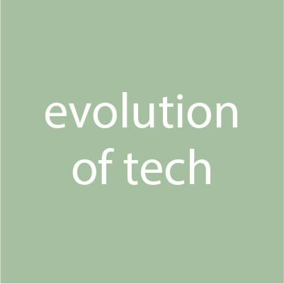 evolution of tech - infographic