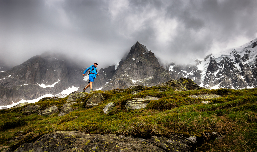Trail Runner on top of Chamonix