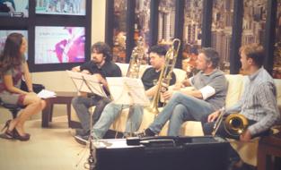 BH News TV,Savassi Jazz Festival,Torro do Alta Villa  Joao Luis, Git. Manassas Malcher, Trb. Wolf Meyer-Johanning, Trb. Shawn Grocott, Trb.