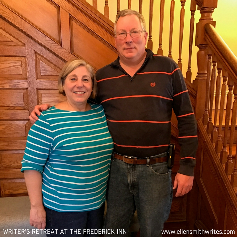 Pat and Kirk, the wonderful innkeepers at The Frederick Inn! (photo credit: Sandra R. Campbell)