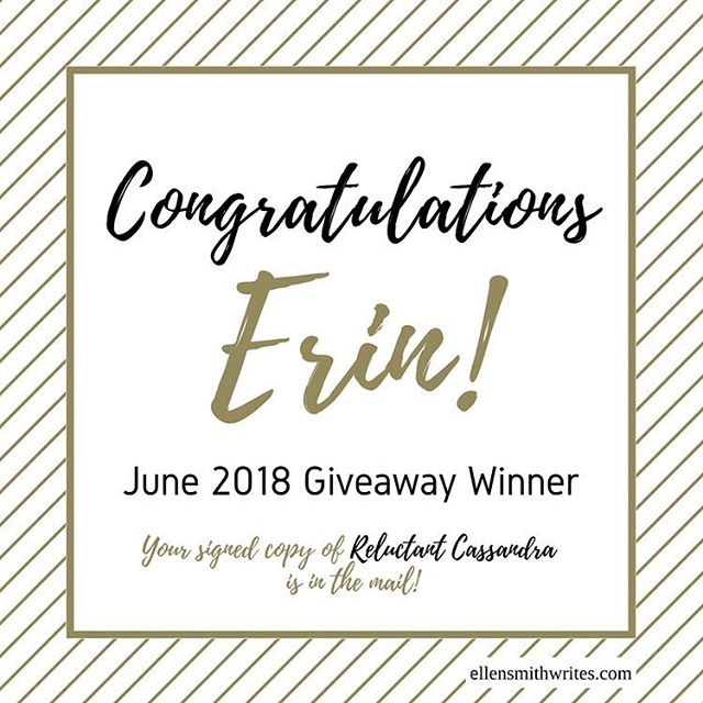 The giveaway for #ReluctantCassandra is now closed and we have a winner! Congratulations, Erin! https://tinyurl.com/y8blcbpr  #twitter