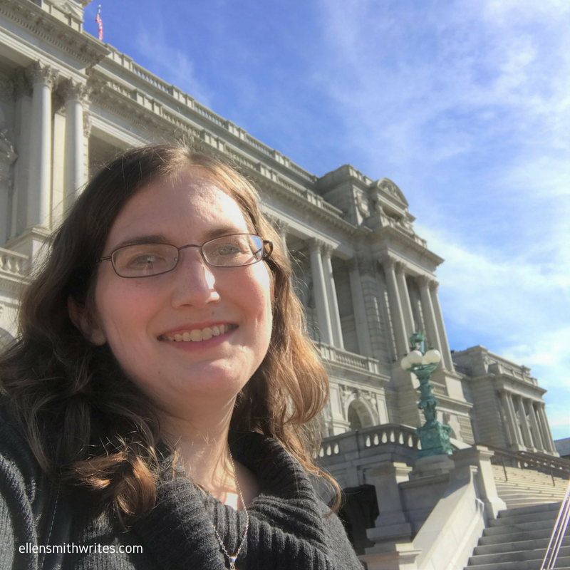 Selfie outside the Library of Congress, sometime after DC began to feel like home.