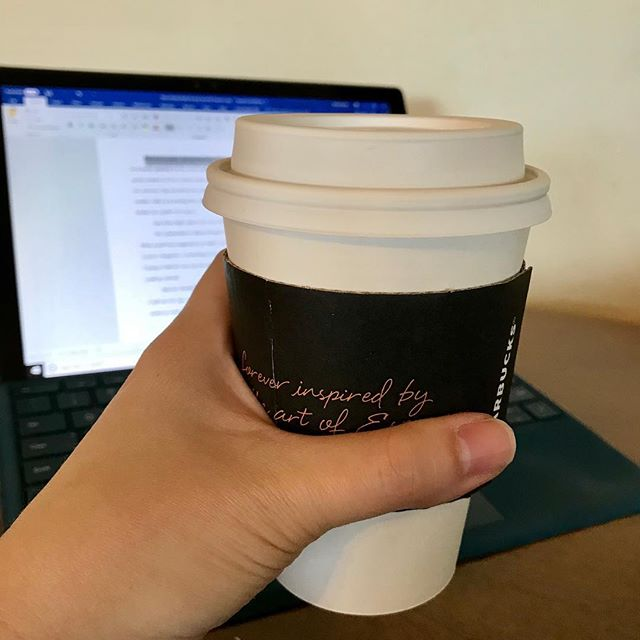 Time for some much-needed editing fuel...first #pumpkinspicelatte of the season! 🍁🍂 #twitter