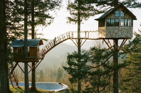 Treehouse: The Cinder Cone - photo:  Foster Huntington