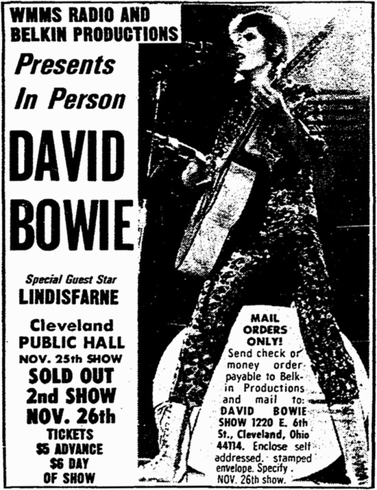 David Bowie's U.S. Debut