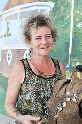 Catie Raymond designs original one-of-a-kind jewelry; photo by Roberta Bell, for the Orillia Packet and Times