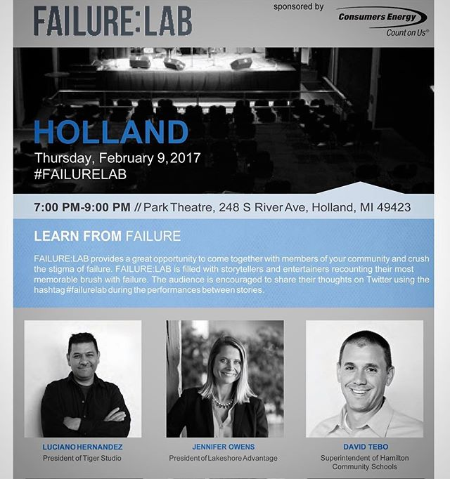 Tiger Studio's owner and founder, Luciano Hernandez, will be speaking in Holland at the FAILURE:LAB in connection with @lakeshoreadvantage on February 9th from 7pm-9pm. Come hear Luciano and others talk about their experiences with failure and how it has changed them. Visit http://failure-lab.com/events/lakeshore-advantage for more information on tickets and location. . . . #productdesign #industrialdesign #design #graphicdesign #grandrapids #michigan #transportationdesign #productdesigner #designer #furnituredesign #failurelab