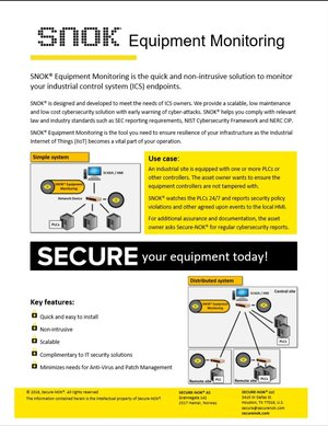 SNOK® Equipment Monitoring