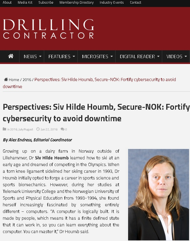 Perspectives: Siv Hilde Houmb, Secure-     NOK: Fortify cybersecurity to avoid downtime