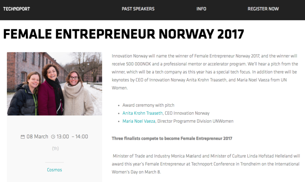 Female Entrepreneur Norway 2017