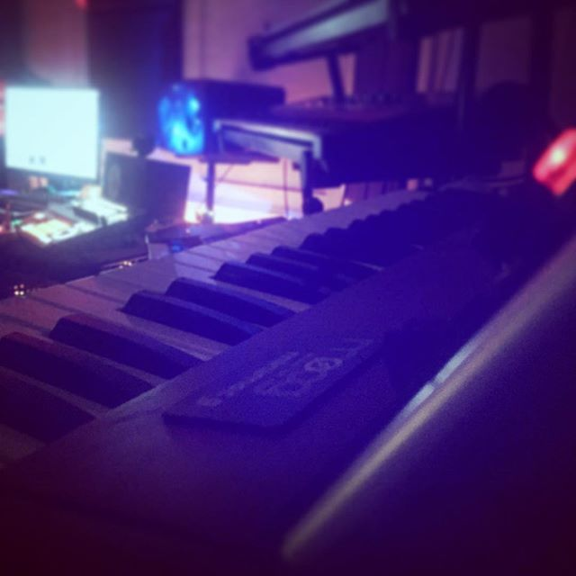 In the lair ! #techno #studio #Moog